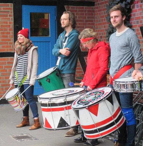Trommler während der Demonstration | Bild: Daniel Schneider