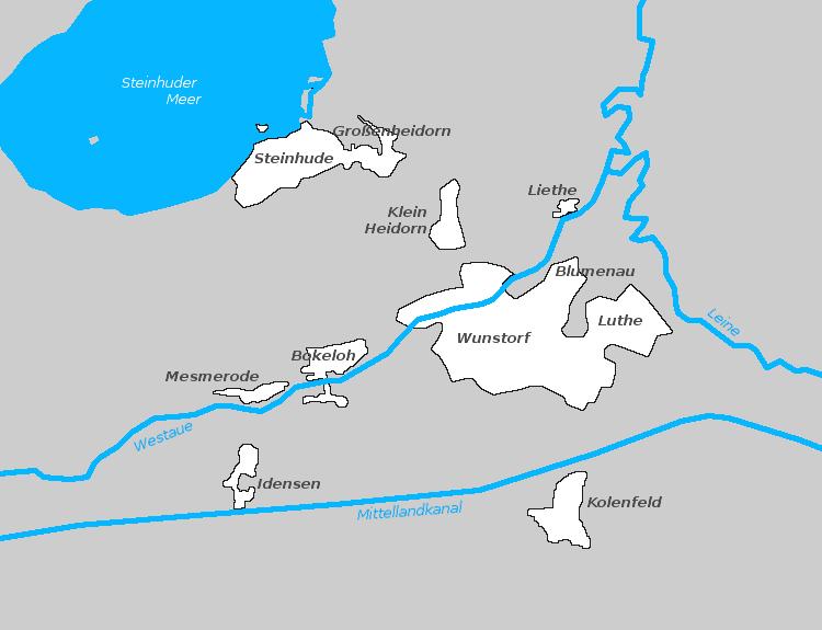 Alle Ortsteile von Wunstorf | Graphik: Auepost