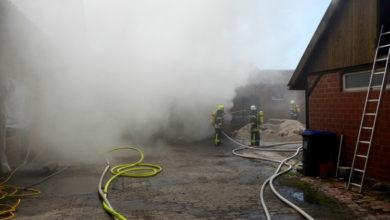 Bild von Holzlager in Flammen