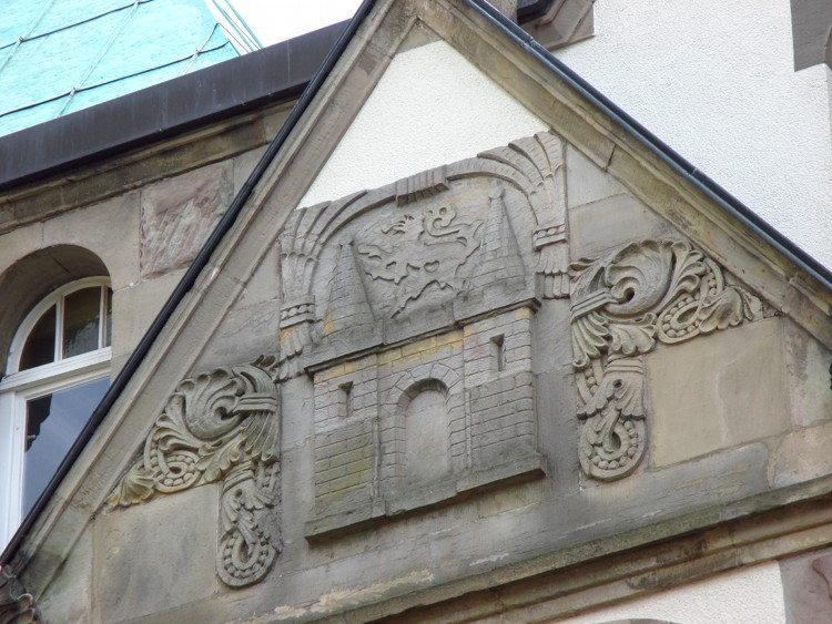 Relief am Giebel der Nordseite des Rathauses | Foto: Daniel Schneider