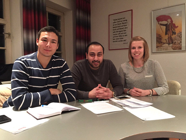 Juso-Sprecherrat (v.l): Gage Alexander Kuckuck, Majid Atris. Ronja Sempf | Foto: Jusos Wunstorf