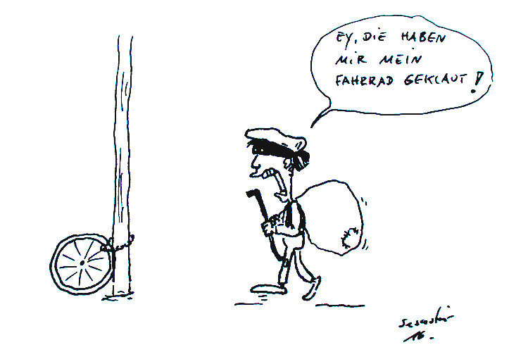cartoon-fahrradklau