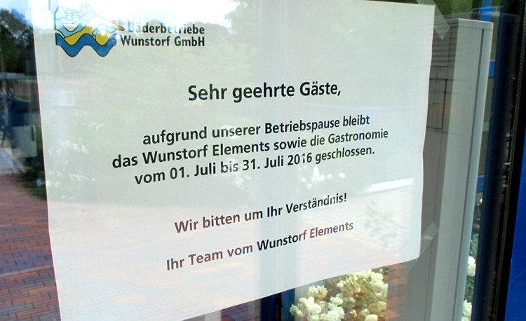 Hinweisschild am Eingang des Wunstorf Elements | Foto: Daniel Schneider