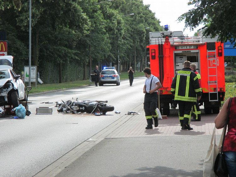 Die Polizei rekonstruiert den Unfall