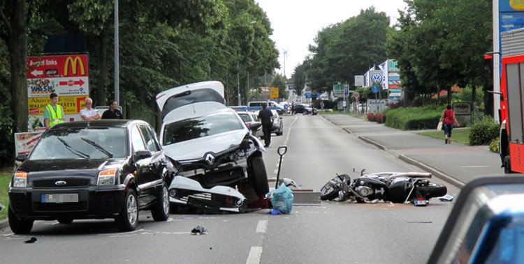 Unfallort auf der Hagenburger Straße