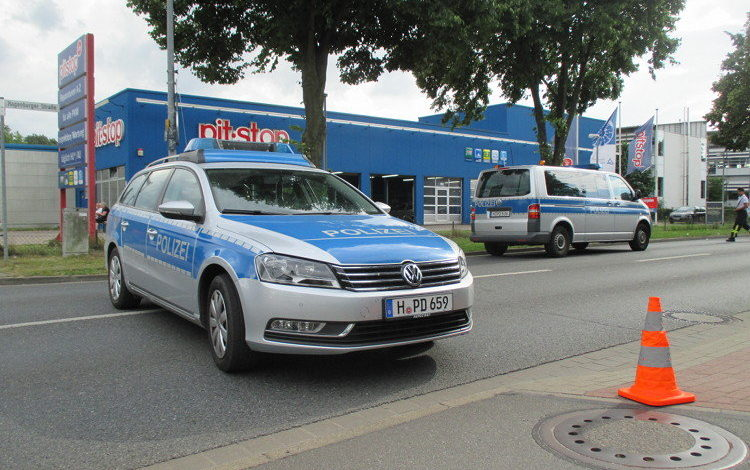 Straßensperrung Polizei