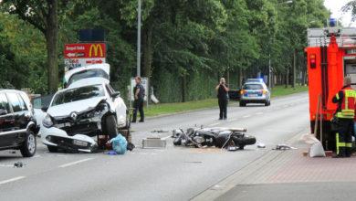 Bild von Schwerer Verkehrsunfall legt Kernstadt lahm
