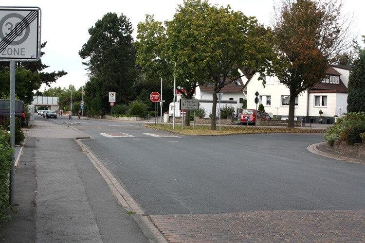 Beobachtete Verkehrsinsel an der Schnittstelle Barnestraße/Am Hasenpfahl | Foto: Daniel Schneider