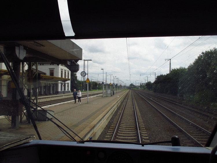 So sieht ein Triebwagenführer den Wunstorfer Bahnhof