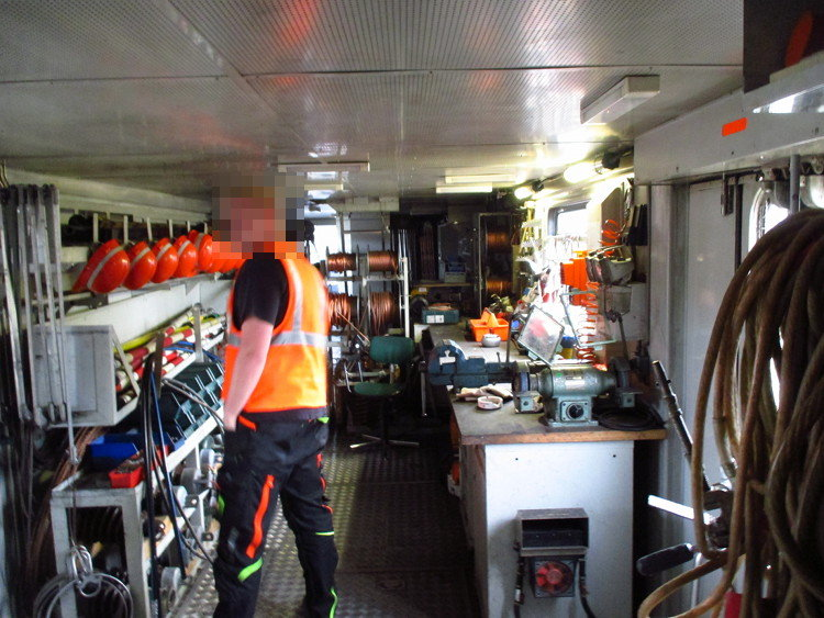 Alles an Bord, was man für den Einsatz auf offener Strecke braucht
