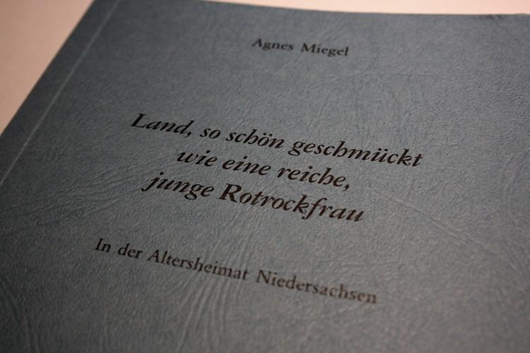 Miegels Umschreibung des Schaumburger Landes, anspielend auf die Landestracht | Foto: Daniel Schneider
