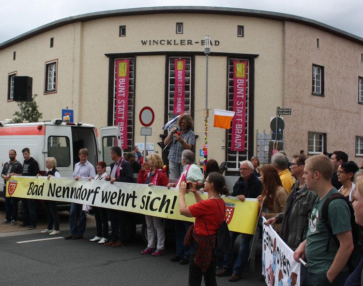 Am ehemaligen Demonstrationsort der Rechten | Foto: Daniel Schneider