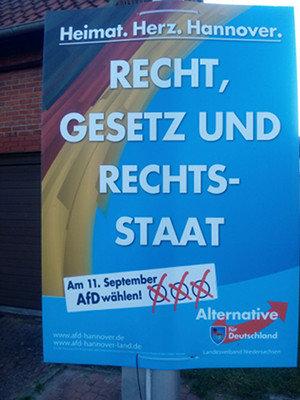 Ein Plakat wie dieses wurde zum Streitgegenstand | Foto: privat