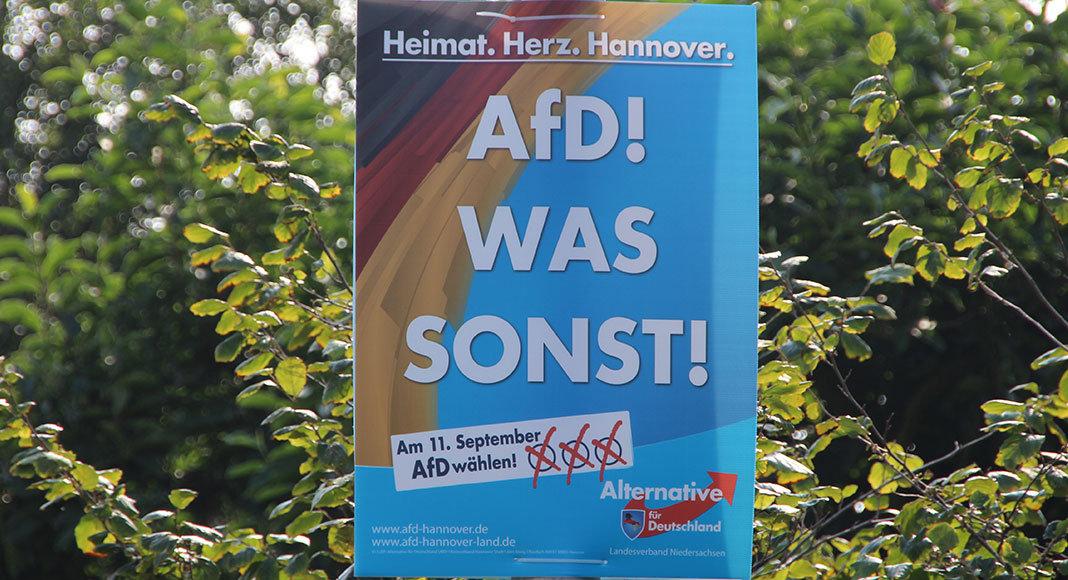 Wahlplakat der AfD in Wunstorf | Foto: Mirko Baschetti