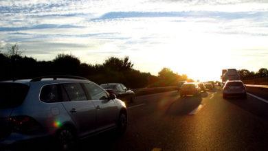 Bild von LKW-Fahrer fährt in Schlangenlinien auf der A 2