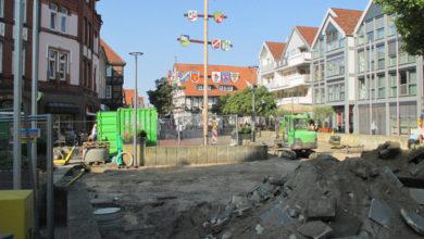 Photo of Der Marktplatz wird schick gemacht