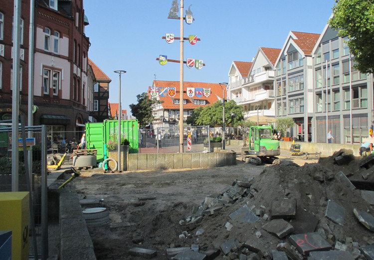 Bauarbeiten auf dem Wunstorfer Marktplatz | Foto: Daniel Schneider