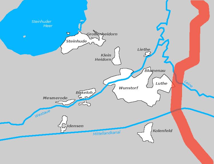 Auf diesem Wege würde die Stromtrasse durch Wunstorfer Gebiet führen | Graphik: Auepost