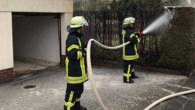 Bild von Feuerwehr verhindert Garagenbrand