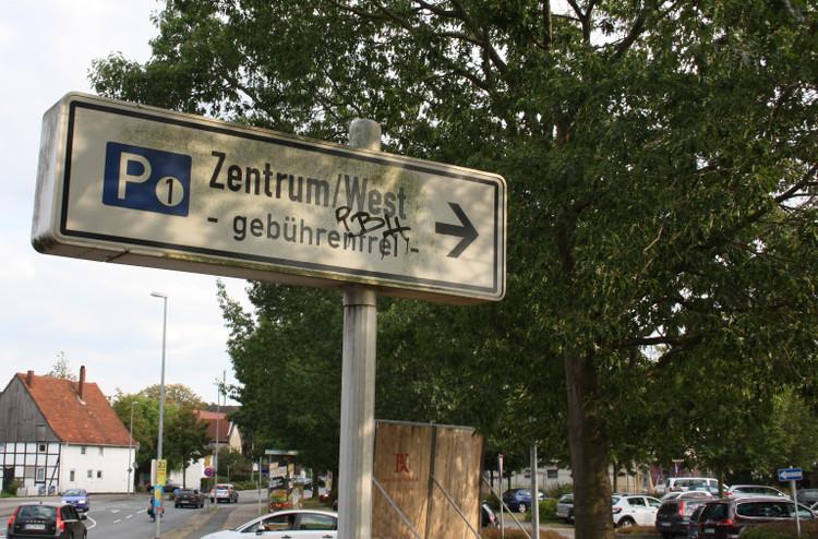 parkplatz zentrum west