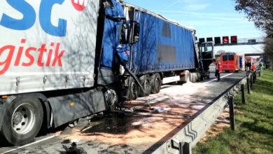 Bild von LKW-Unfall auf der A2 bei Luthe