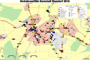 Verkehrsunfälle in der Kernstadt Wunstorf 2016