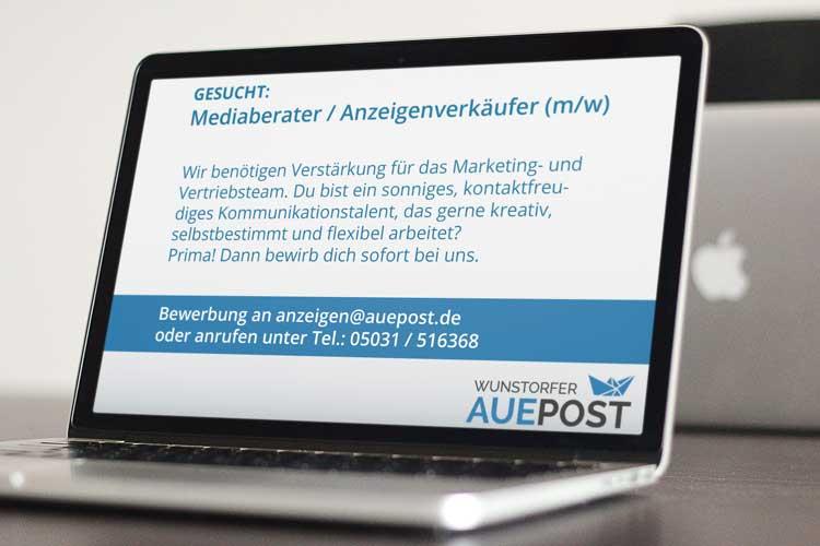 Photo of Auepost sucht Mediaberater / Anzeigenverkäufer (m/w)
