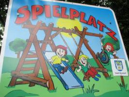 Spielplatzschild in Wunstorf