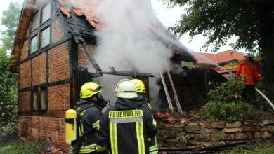 Bild von Fachwerkbau in Flammen