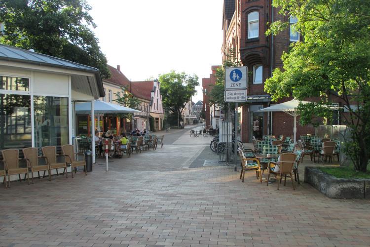 Südstraße, Beginn der Fußgängerzone