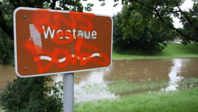 Bild von Die Westaue verlässt ihr Flussbett