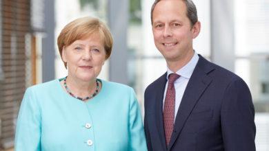 Bild von Angela Merkel am Freitag in Steinhude