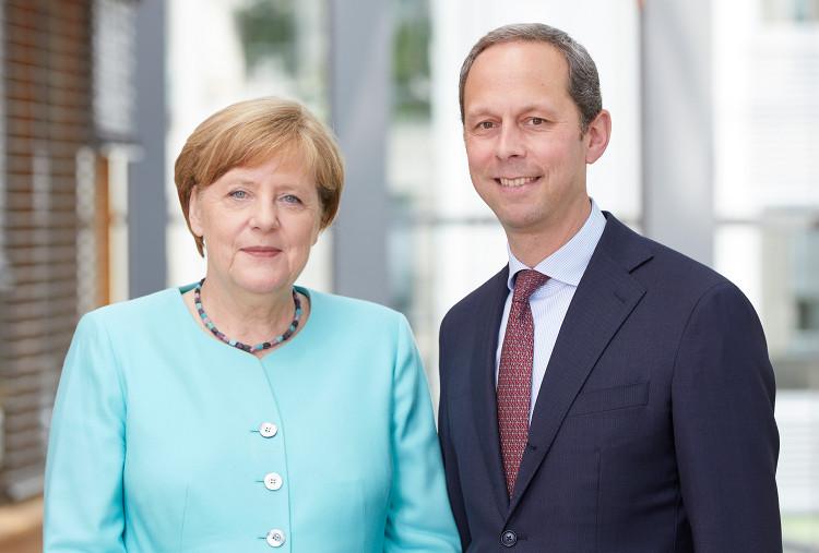 Photo of Angela Merkel am Freitag in Steinhude