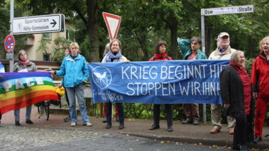 Photo of Demonstration in der Oswald-Boelcke-Straße