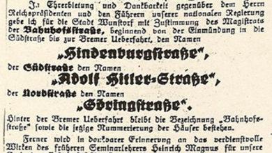 Bild von Wie Hindenburg- und Oswald-Boelcke-Straße zu ihren Namen kamen