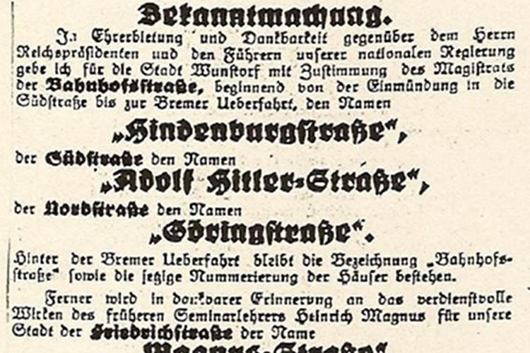 Photo of Wie Hindenburg- und Oswald-Boelcke-Straße zu ihren Namen kamen