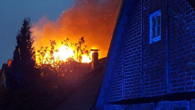 Bild von Dachstuhlbrand in Auhagen