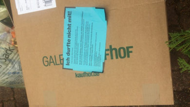 Bild von AHA lässt Pappkartons stehen