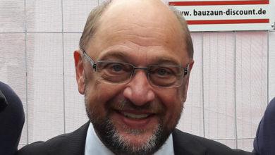 Bild von Landtagskandidaten – und Martin Schulz – am Freitag in der Fußgängerzone