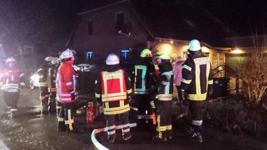 Bild von Großeinsatz der Feuerwehren in Hagenburg