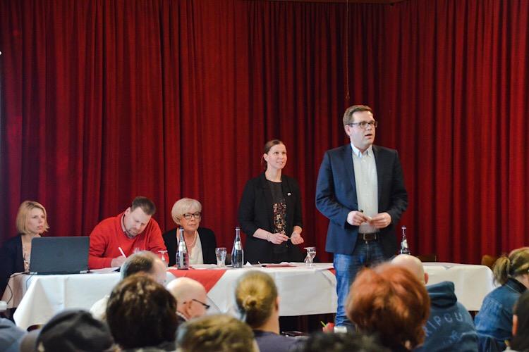 Wiebke Osigus und Torben Klant auf der Jahreshauptversammlung SPD 2018