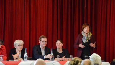 Bild von Klartext bei der SPD-Mitgliederversammlung
