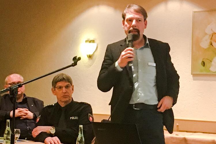 Klaus Borck von der Jugendhilfestation auf dem Vereinstreffen 2018