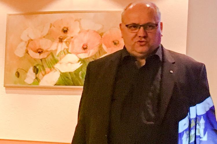 Ortsbürgermeister Thomas Silbermann auf dem Vereinstreffen 2018
