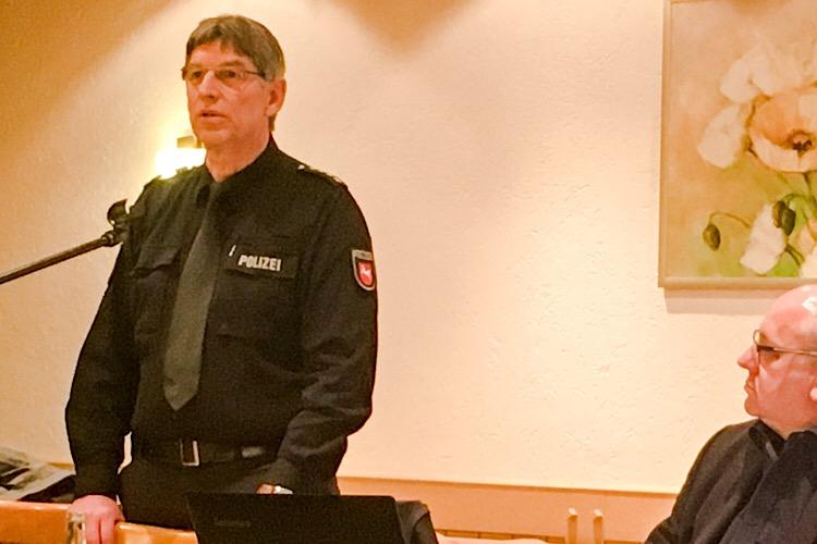 Polizeihauptkommissar Rüdiger Wloka auf dem Vereinstreffen 2018