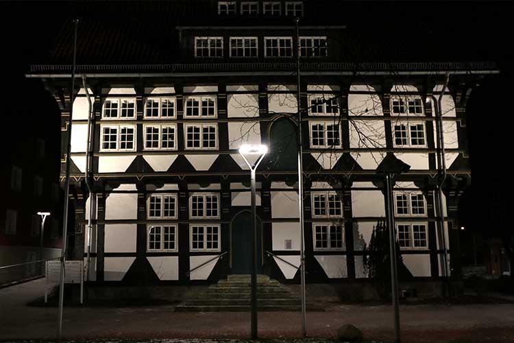 Die beleuchtete Abtei Wunstorf