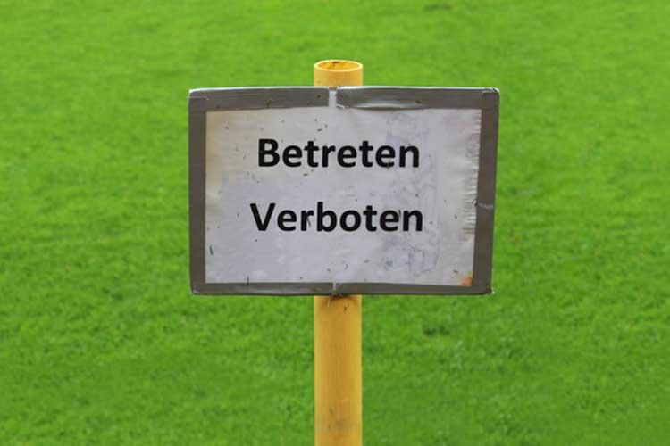 Symbolbild: Fußballplatz gesperrt