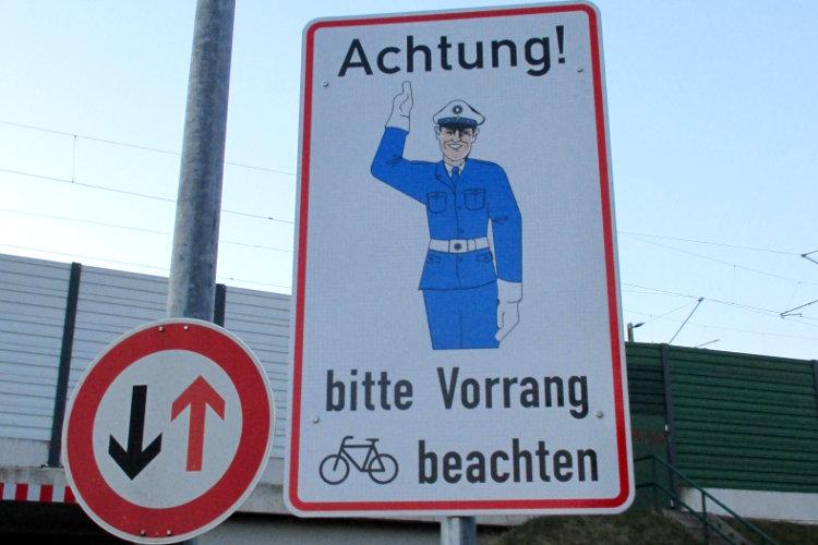 Auch Radfahrer haben Rechte