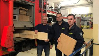 Bild von Holz für die Feuerwehr