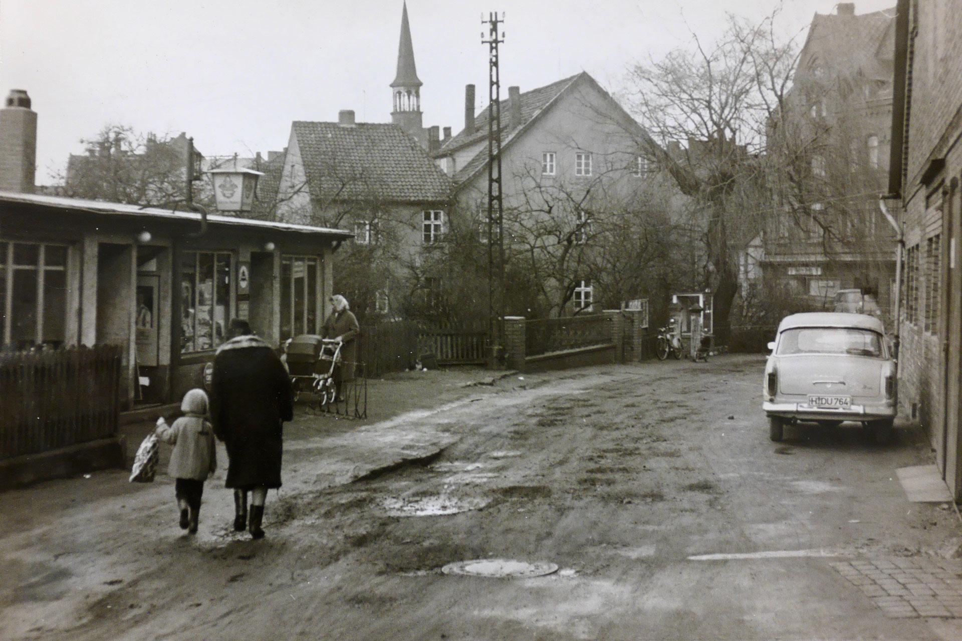 Küsterstraße in den 60ern in Wunstorf